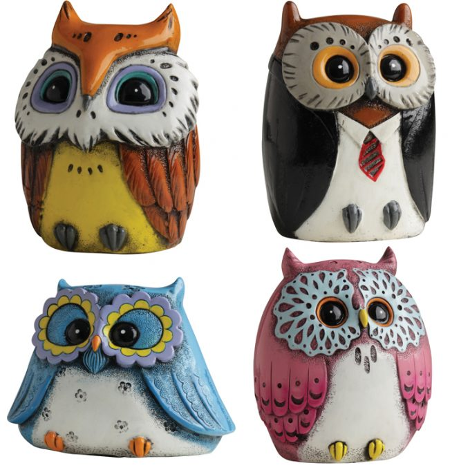 Owl Money Boxes (10 Assorted)