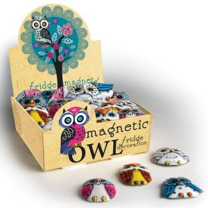 Magnetic Owls Counter Display (30 pcs)