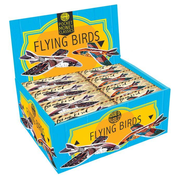 Fliegende Vögel/Styropor (45 Stück)