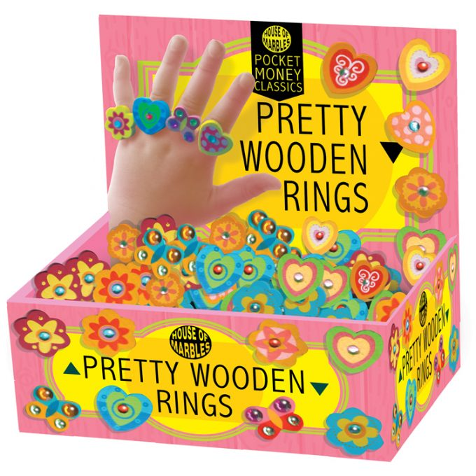 Bezaubernde Fingerringe aus Holz (90 Stück)