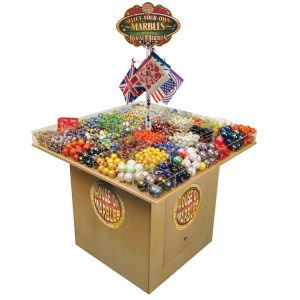 49 Pocket Marble Display Stand FREE with #1000 of Assorted Marbles