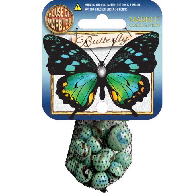 Schmetterling Netze mit Murmeln (10 Stück)
